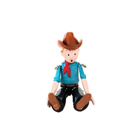 Hergé : PIXI : Tintin, 2502, articulé cow boy, Tintin en Amérique, 1994, 1275 ex…