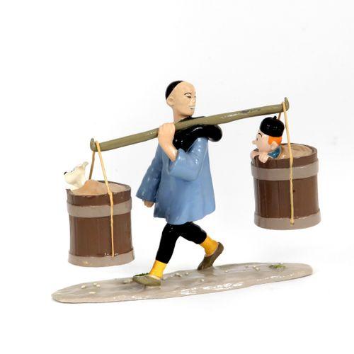 Hergé : PIXI : Tintin, 4541, le porteur chinois, Le Lotus bleu, 1994, 2375 ex., …
