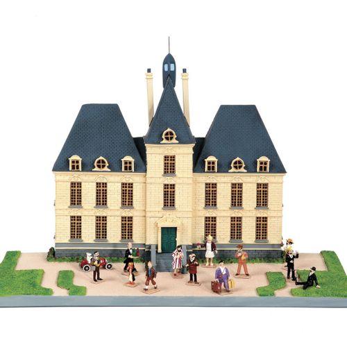 Hergé : MOULINSART PLOMB : Tintin mini série, 46208, le château de Moulinsart et…