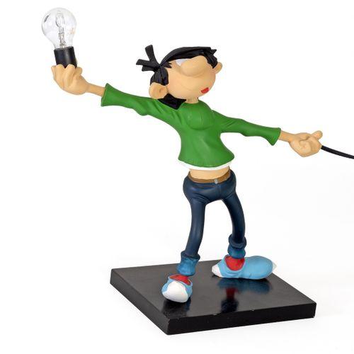 Franquin : LEBLON DELIENNE : Gaston, Lagaffe en lampe de chevet ou de table (180…