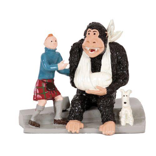Hergé : PIXI : Tintin, 4532, le gorille Ranko, L'Ile noire, 1990, 1500 ex., 7 cm…