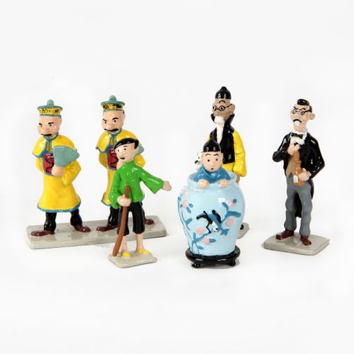 Hergé : PIXI : Tintin, 2121,mini série, Le Lotus bleu, 1994, 2700 ex., 3 cm, B …