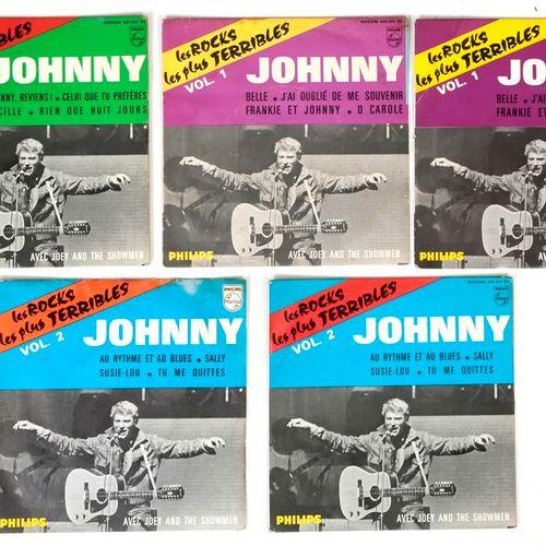 Johnny HALLYDAY Les Rocks les plus terribles, lot de 5 dont 3 versions glacées …
