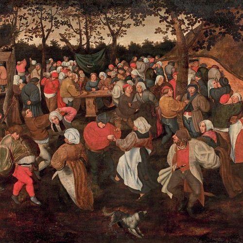 Marten van CLEVE (1524 1581) La danse de noce paysanne Panneau transposé sur toi…