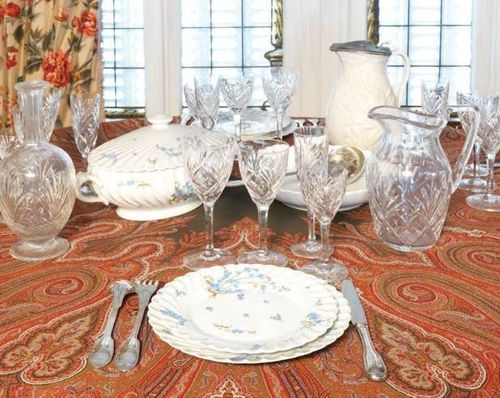 Cristallerie SAINT LOUIS CRYSTAL SERVICE 8 water glasses, 8 red wine glasses, 8 …