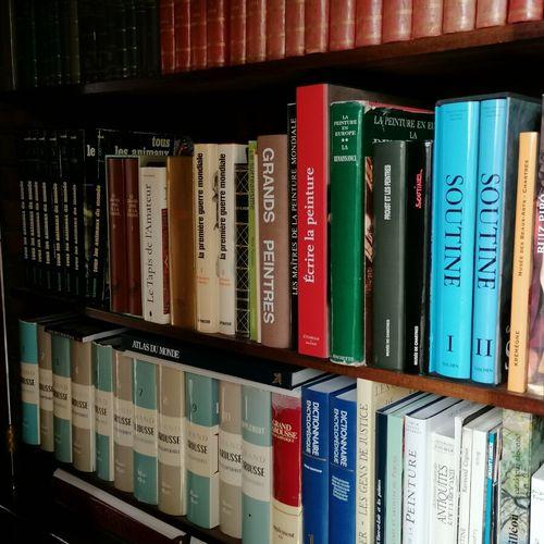 Livres reliés et brochés modernes dont livres d'art, Larousse, littérature (dans…