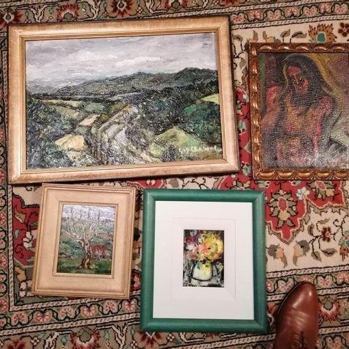 """Guy CHABROL """"paysage à l'arbre"""", """"le Christ outragé"""", """"bouquet de fleurs"""", """"le p…"""