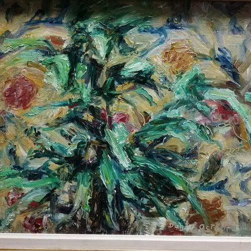 """Daniel OCTOBRE """"composition aux fleurs"""" huile sur toile signée bas droite ; On y…"""