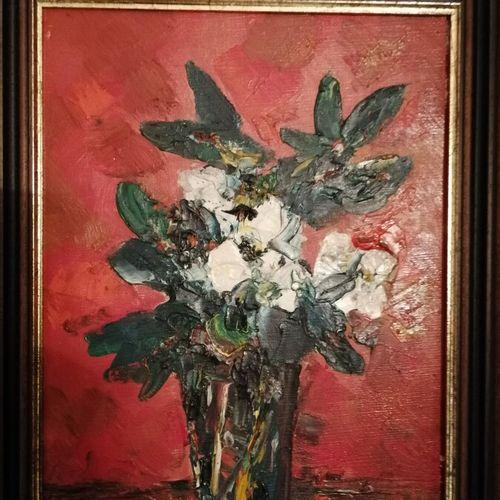 Antoon KRUYSEN (1917 2013)《有花的静物》布面油画,左下方有签名。31x23厘米