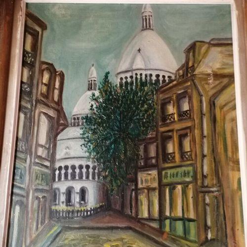 """Maurice MOISSET """"le Sacré Coeur"""" huile sur toile signée en bas à droite 46x37 cm"""