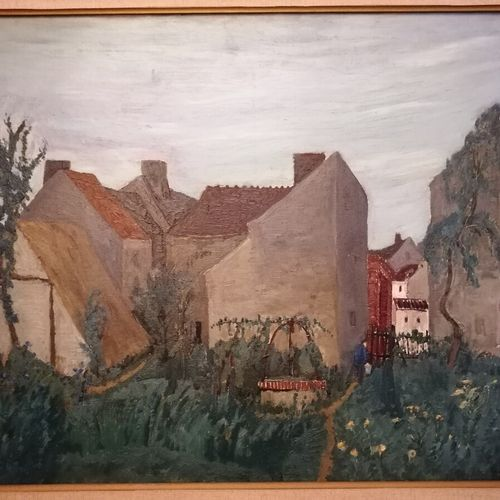 Alphonse QUIZET (1885 1955)《老井》,布面油画,右下角有签名,52.5x63厘米