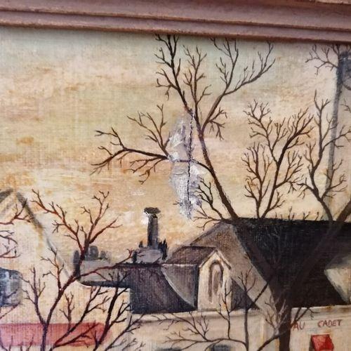 M. BRYSMANN《蒙马特的圣心》,布面油画。30x40厘米(左上角的事故)。