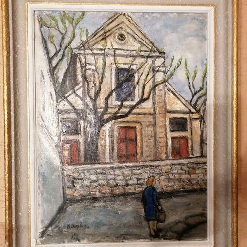 """Henri BOULAGE (1899 ?) """"Saint Pierre Montmartre"""", huile sur toile signée en bas …"""