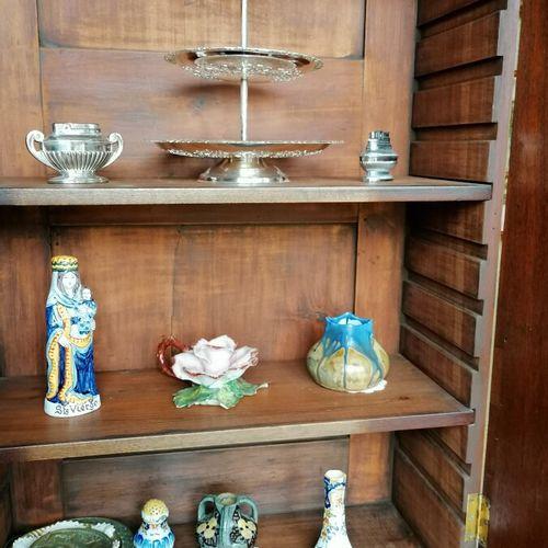 Lot cpt 3 vases en faïence de Satsuma, ravier, briquet, Vierge d'accouchée, vase…