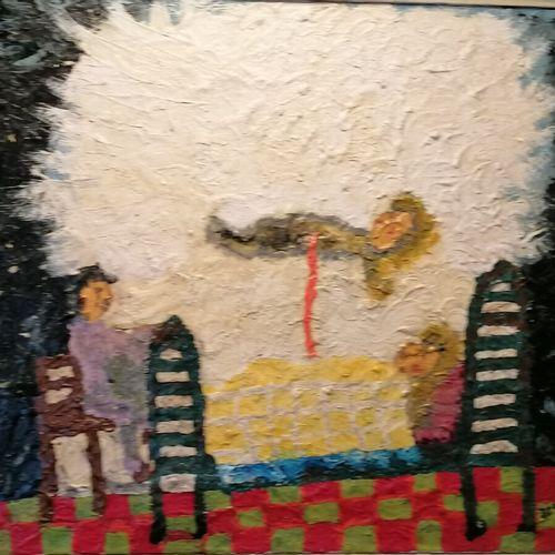 """DESSAUX """"le départ"""" 布面油画,有签名和日期,1971年,37x45厘米"""