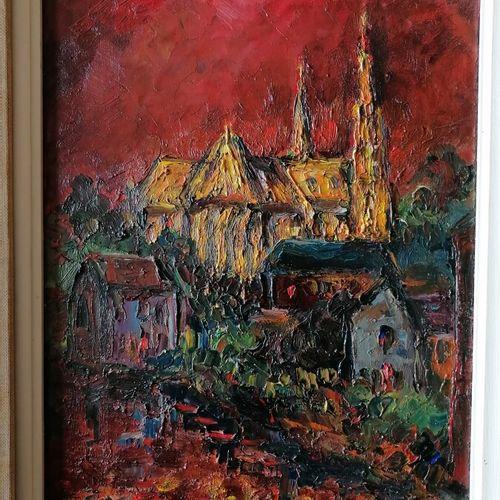 """Antoon KRUYSEN (1917 2013) """"la cathédrale"""", huile sur toile signée en bas à gauc…"""