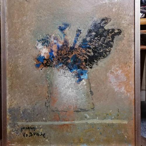"""Edith ALDER """"jeune femme à la terrasse du café"""" gouache sur papier signée bas dr…"""