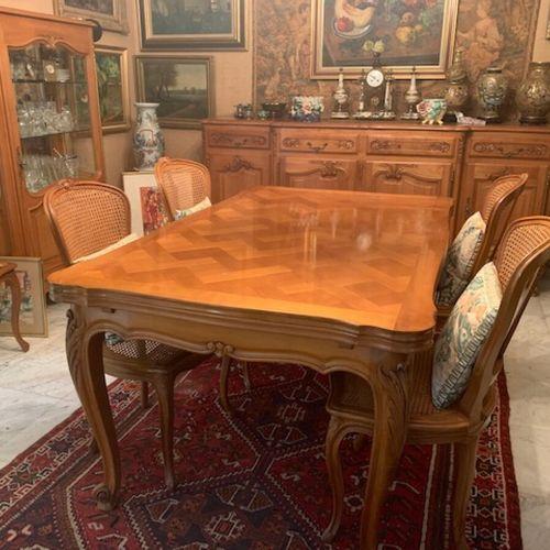 Mobilier de salle à manger cpt table de salle à manger à l'italienne en bois nat…