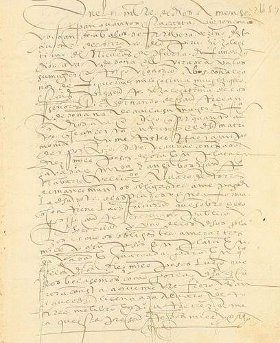 1573. MANUSCRIT : (FICHIER ). DON SOUS FORME DE DOT. Folio. 4 h. Manuscrits en l…