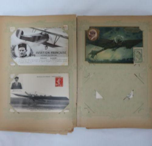 Album of postcards on the theme of Aviation. Circa 1920.