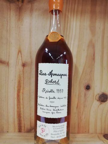 Bottle Bas Armagnac 1997 Delord Limited Harvest. Brut of barrel. This bottle bea…