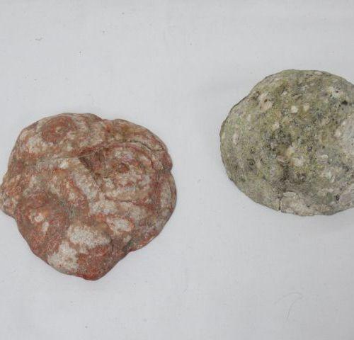 Set of 2 agate slices. 11 cm