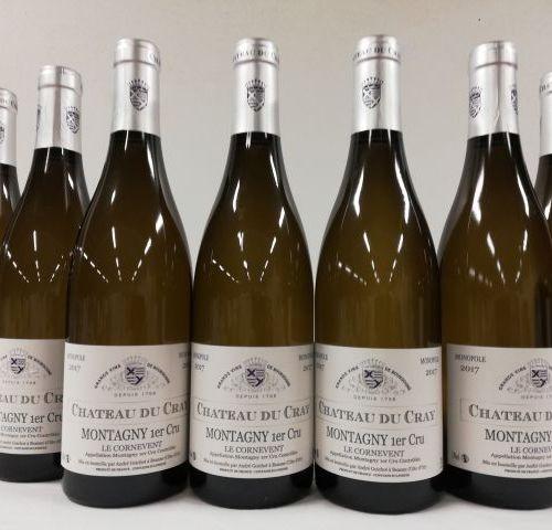 7 bottles of Montagny 1er Cru. White wine. The Cornevent Monopole 2017 of Châtea…