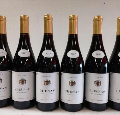 6 bottles of Chénas. The Golden Coat of Arms 2017. Cru du Beaujolais