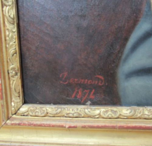 """DERMOND """"Portrait of an officer in uniform"""". Oil on canvas. Signed, dated 1874. …"""