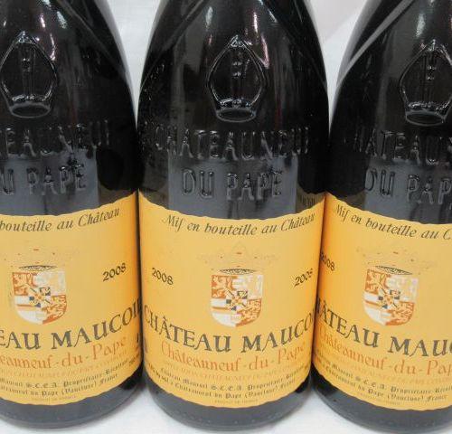 6 bottles of Châteauneuf du Pape, Château Maucoil, 2008