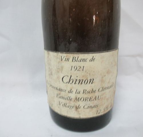 Bottle of Chinon, 1921. (recaps with wax)