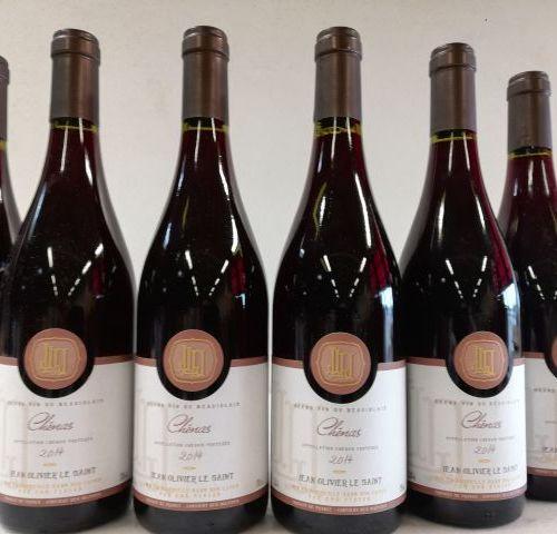 6 bottles of Chenas 2014 Jean Olivier le Saint. Cru du Beaujolais