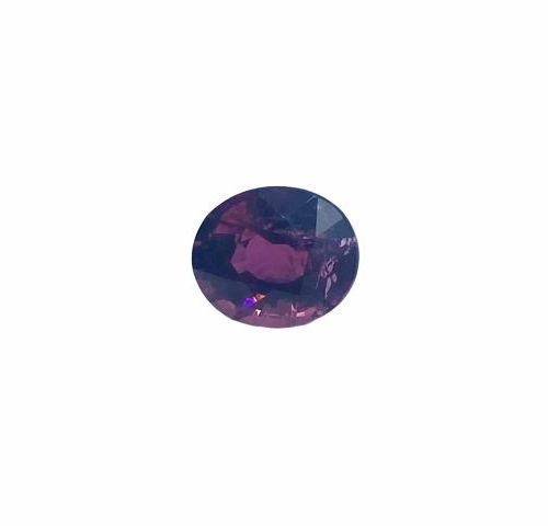 Highly saturated oval faceted tourmaline of about 1.81 carat.