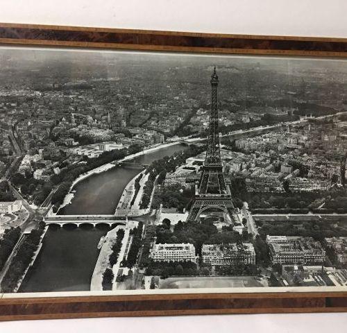 Oblique aerial photo print of the Eiffel Tower district La Pie Air Service, 1950…