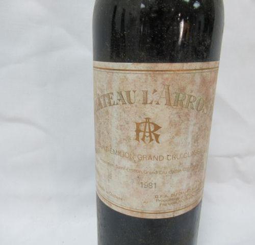 Bottle of Saint Emilion, Château l'Arrosée, 1981 (LB, els)