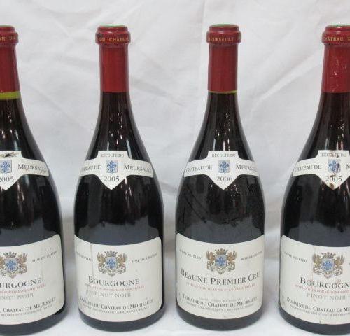 4 bottles of Pinot Noir, Château Meursault, 2005