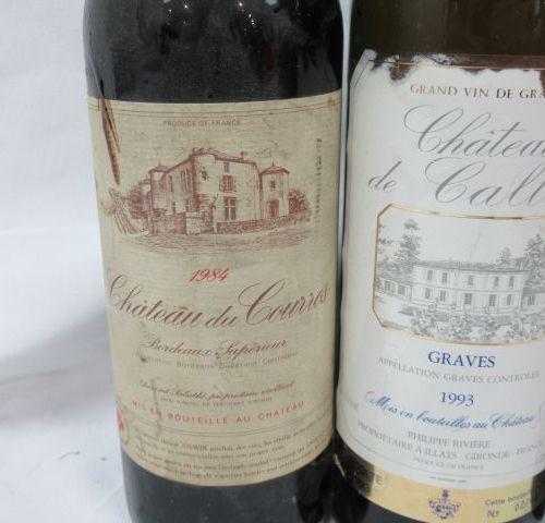 Batch of 4 bottles of red wine: 1 of Montagne Saint Emilion Château Vieux Tonnea…