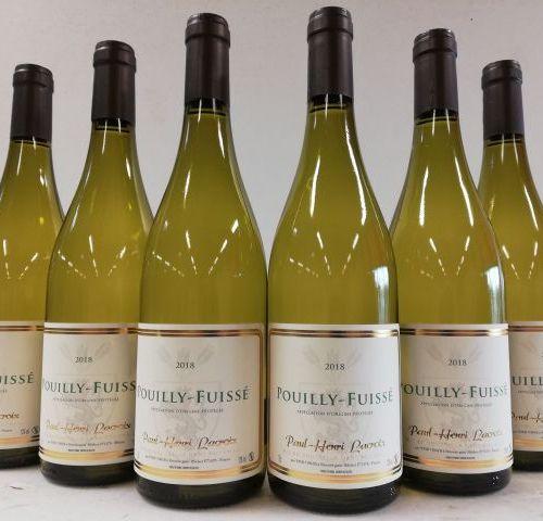 6 bottles of Pouilly Fuissé 2018. Burgundy. Paul Henri Lacroix