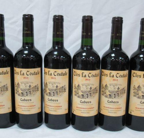 6 bottles of Cahors, Clos La Coutal, 2013