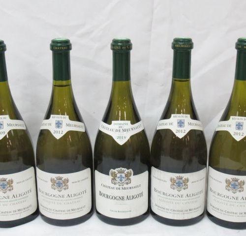 5 bottles of Bourgogne aligoté, Château de Meursault: 1 from 2009, 3 from 2012 a…