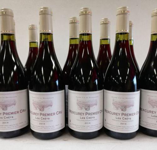 12 bottles of Mercurey 2014 1er Cru Les Crêtes AOC.