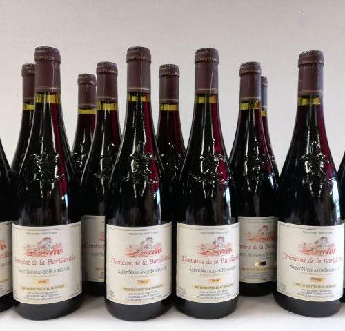 16 bottles of Saint Nicolas de Bourgueil. Domaine de la Barilleraie. 2018. Harve…