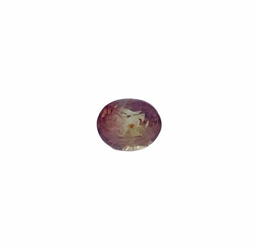 Pretty oval faceted pinkish orange sapphire of about 1.35 carat. Probably unheat…