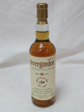 Whisky Single Grain Invergordon Distillery 1972 (36 years old, bottled 2009). Nu…
