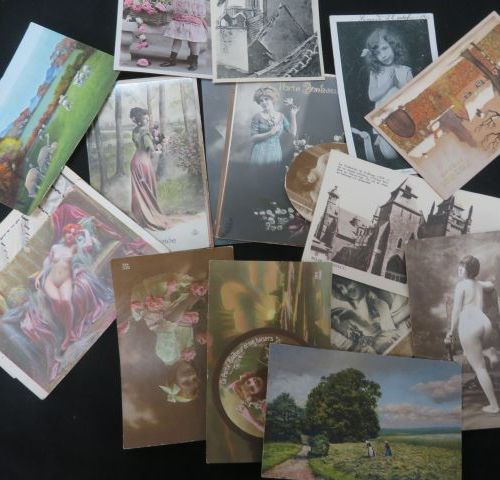 Small batch of old postcards, circa 1900.