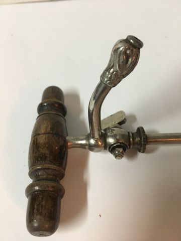 Oenology, Champagne siphon in wood and metal early 19th century L 19 cm  This ob…