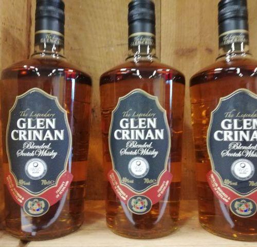 3 Bottles Glen Crinan Whisky. Blended. Scotland 40%. 70cl. The Legendary.