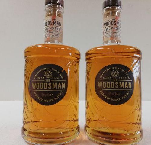 2 bottles of Woodsman's Rare Whiskey. Blended. 2017 True Caracter Scotland. 70cl…