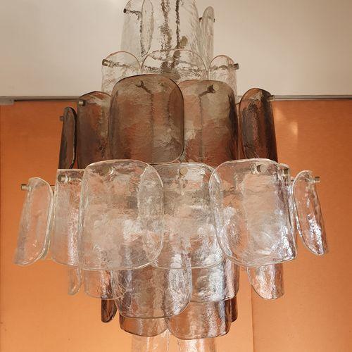 Vetreria Figli Schiavon (de Franco Schiavon) à MURANO Lustre en métal et verre, …