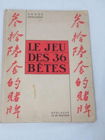 """André DEMAISON """"Le Jeu des trente six bêtes"""" Illustré d'après Jacques Darcy. Edi…"""